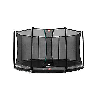 BERG Favorit InGround 380 12.5ft Trampoline Grey With Safety Net Comfort