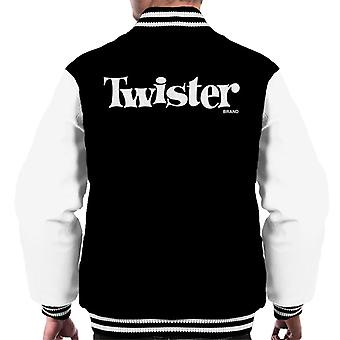 Twister White Text Logo Men's Varsity Jacket