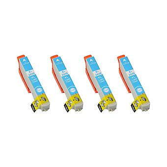 RudyTwos 4x Replacement for Epson Elephant Ink Unit LightCyan Compatible with Expression Photo XP-55, XP-750, XP-760, XP-850, XP-860, XP-950