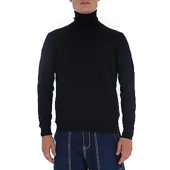 Prada Umr185c5wf0svf Männer's blaue Wolle Pullover