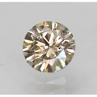 Cert 0.50 Carat Fancy Brown VS2 Round Brilliant Enhanced Natural Diamond 5.06mm