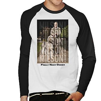 Friday Night Dinner Jim And Milson Men's Baseball Long Sleeved T-Shirt