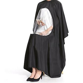 Hairdressing Salon Barbers Cape Gown With Phone Window
