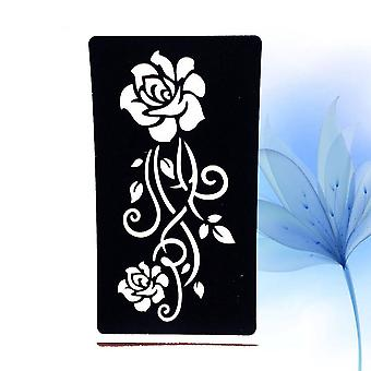 Indian Rose Lace Flower Tattoo Stencil-women Diy Body Legs Arm Art Airbrush Painting Small Tattoo Stencil Template