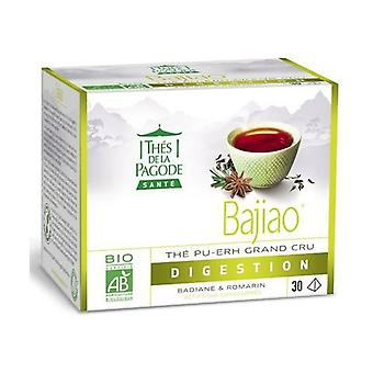 Bajiao Organic Pu-Erh Tea With Star anise And Rosemary - Light Digestion 30 infusion bags