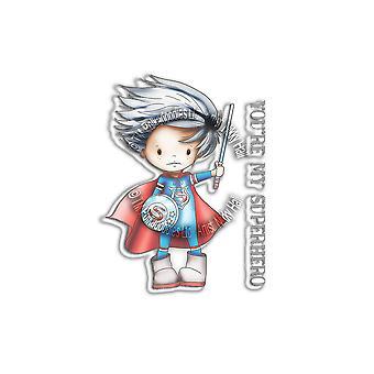 Polkadoodles Little Dudes Superhero Clear Stamps