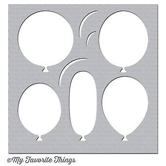 المفضلة الأشياء الكبيرة البالونات استنسل
