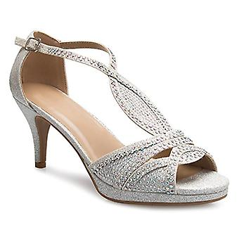 OLIVIA K Women's Sexy Strappy Glitter Rhinestone Open Toe Heel Sandals - Adju...