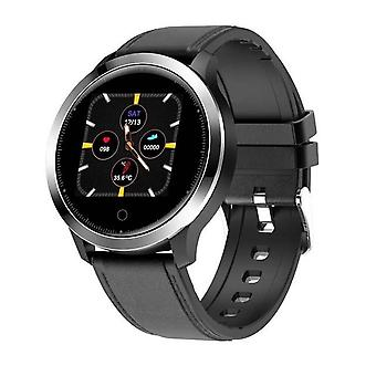 Smartwatch - measures temperature, heart rate, blood pressure - Black