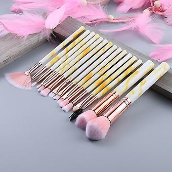 Professional Makeup Brush Set Powder Foundation Eyeshadow Lip Eyeliner Blush Marble Face Makeup