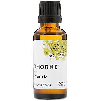 Thorne Forskning, Vitamin D, 1 fl oz (30 ml)