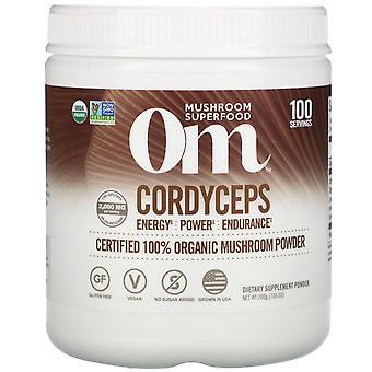 Om Mushrooms, Cordyceps, Certified 100% Organic Mushroom Powder, 7.05 oz (200 g)