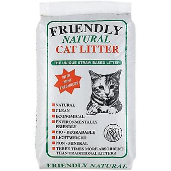 Friendly Natural Straw Based Cat Litter - 20kg