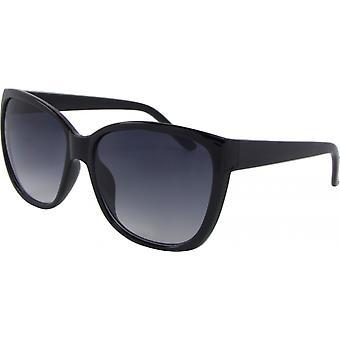 Sonnenbrille Unisex  Wayfarer Kat. 3 schwarz/grau (Basic 330-A)