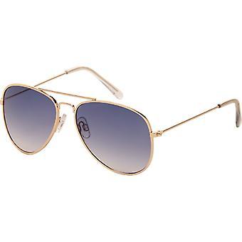 نظارات شمسية Unisex الرموز Cat.3 الذهب / الأزرق (1160)