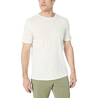 Goodthreads Men's Linen Cotton Crewneck T-Shirt, White, Large