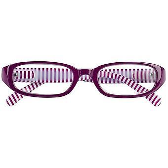 Reading Glasses Unisex Libri_x Stripes Pink/White Strength +1.50