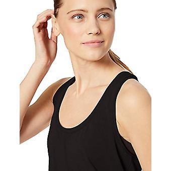 Brand - Core 10 Women's Soft Pima Cotton Stretch Yoga Racerback Tank, Black S (4-6)