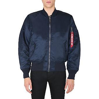Alpha Industries 10010107 Men's Blue Nylon Outerwear Jacket