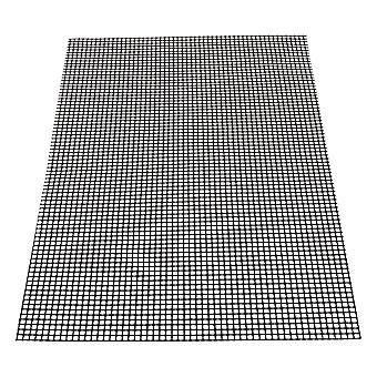 Black Barbecu Grill Grid Mats 33x40cm
