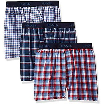 Hanes Big Boys' Ultimate Comfortsoft Plaid Boxers (3 Pack), Assorted, XL