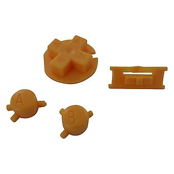 Replacement button set a b d-pad power switch mod for nintendo game boy color - yellow | zedlabz