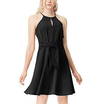 Bar III | Boho Sunset Front Tie Mini Dress