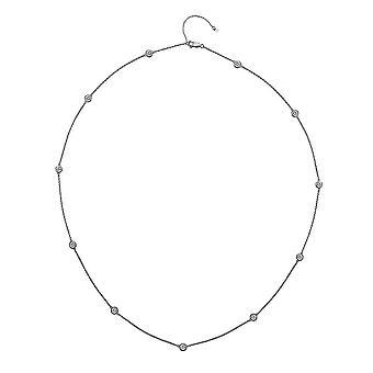 Hete diamanten zilveren Tender 60cm ketting DN131