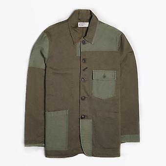 Universal Works  - Twill Patched Bakers Jacket - Green