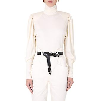 Isabel Marant Ht190420h039i23ec Women's White Wool Sweater