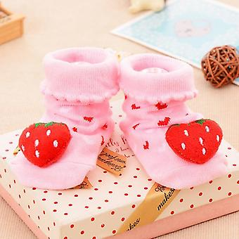 Baby Socks Floor Non-slip Cotton Cartoon Doll With Bells Girls Boys Soft Cute