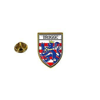 mänty mänty merkki mänty pin-apos;matkamuisto kaupungin lippu maa vaakuna ecusson bruges Belgia