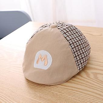 Handsome Kids Hat For Boys- Cotton Baby Boy Cap Plaid Toddler Beret Hat Baby Accessories