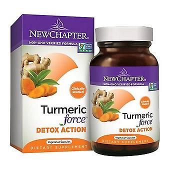New Chapter Turmeric Force Detox Action, 60 Veg Caps