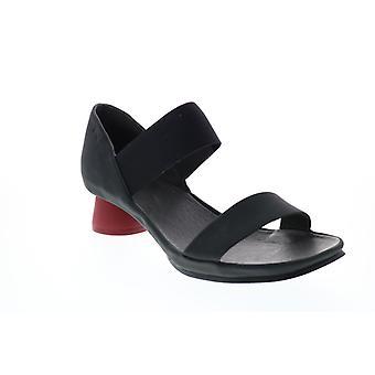 Camper Okay Sandal Naisten Musta Nahka Tossut Muulit Kengät