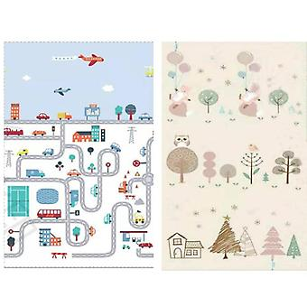 Thick Educational's Mat Xpe Foldable Baby Mat -developing Kids Rug Road Game