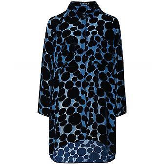 Grizas Oversized Silk Velvet Spot Shirt