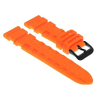 Strapsco rubber-watch-strap-with-matte-black-buckle-fits-seiko