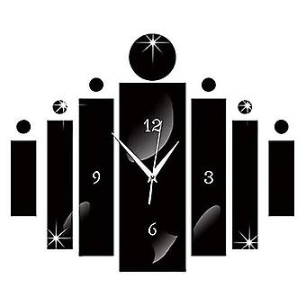 Luxury 3d Digital Mirror - Wall Clock With Modern Design