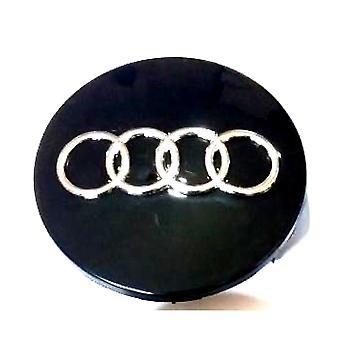 Black Audi Wheel Center Cap Hub Badge 60mm 1 PCS For A3 A4 A6 A8 TT