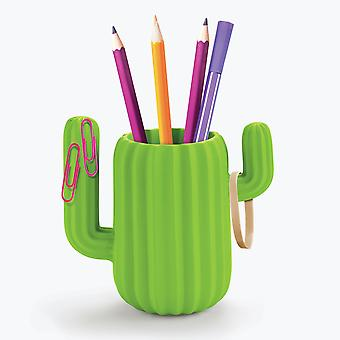 Mustard - cactus desktop organiser / pen pot
