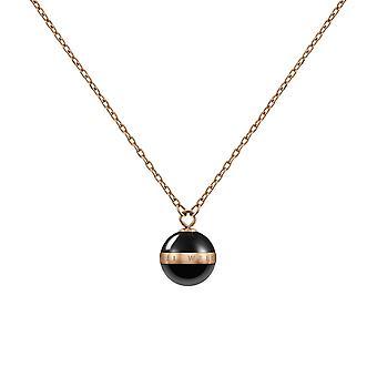 Daniel Wellington DW00400156 Aspiration Rose Gold Tone Necklace Black