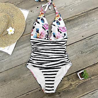 المرأة V الرقبة مبطن Monokini السباحة دعوى
