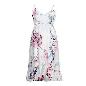 Maternity And Elegant Pregnancy  Dresses/clothes, Casual Floral Printed Ruffles