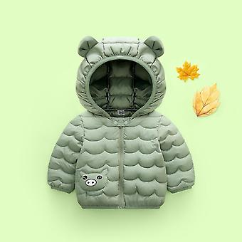 Baby Cartoon Light And Thin Coat,'s Cotton Padded Clothes