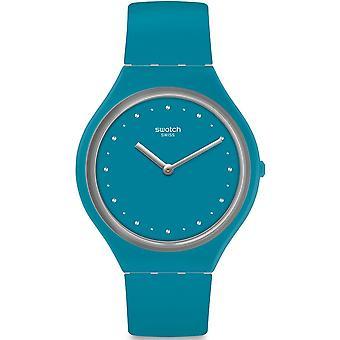 スウォッチ Svol100 Skinautique ブルーのシリコーンの腕時計