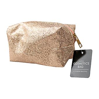 Glitter / Holographic Cosmetics Make Up Toiletry Wash Bag ~ Gold