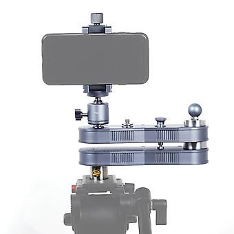 ADAI Mini rozšiřitelná kolejová dráha Dolly Slider, Rýžování a lineární pohyb až 4 x vzdálenost (52 cm), zatížení Max: 1,5 kg (stříbrná)