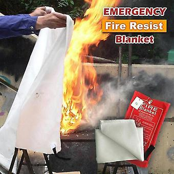 1.2m X 1.2m Sealed Fire Blanket Home Safety Fighting Fire Extinguishers Tent