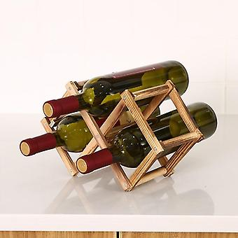 Wine Rack Wooden Wine Bottle Holders Creative Practical Collapsible Decorative